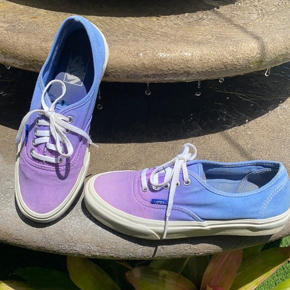 Vans purple and blue ombre shoes